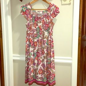 London Times Summer Dress w/Cap Sleeve Size 8
